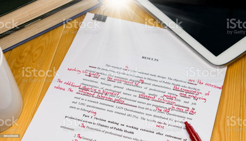 proofread stock photo