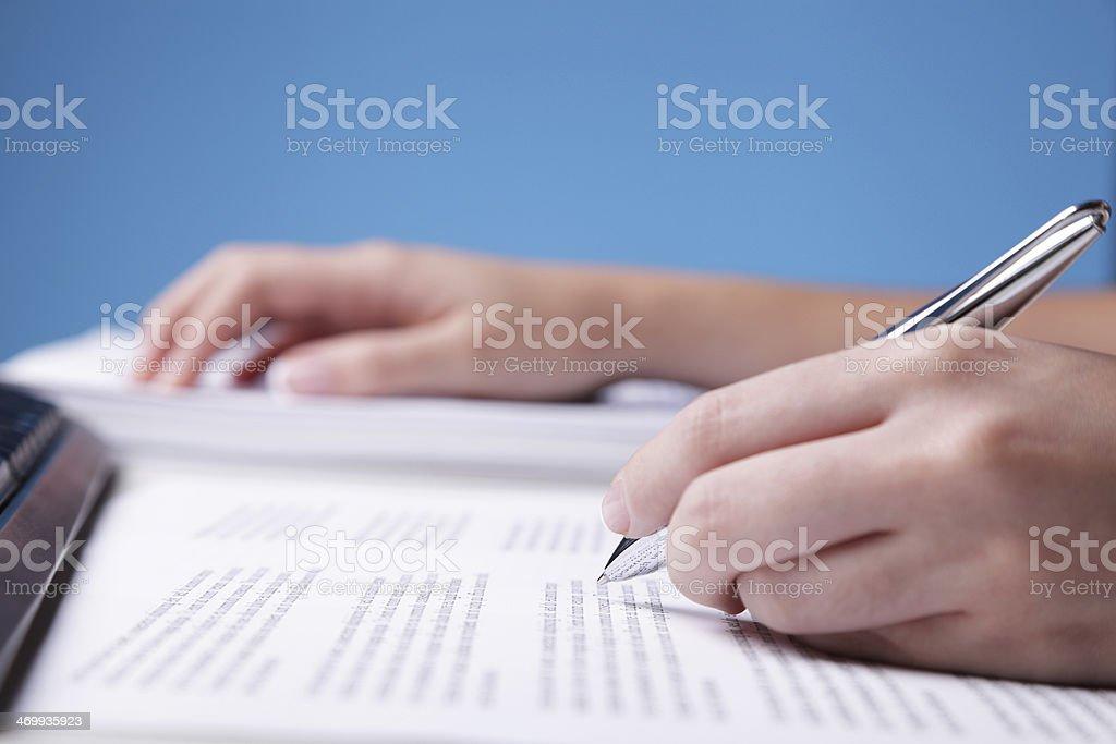 Proofreading stock photo