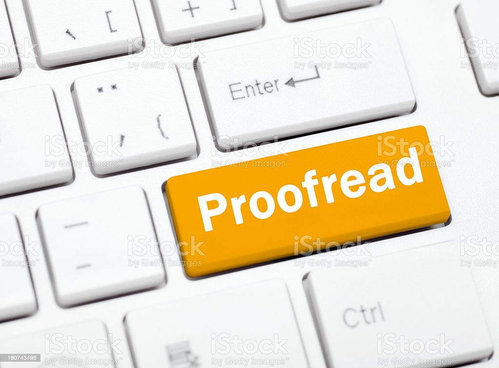 Proofreading services royalty-free stock photo