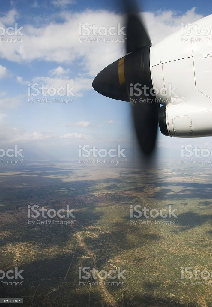 prop over land royalty-free stock photo