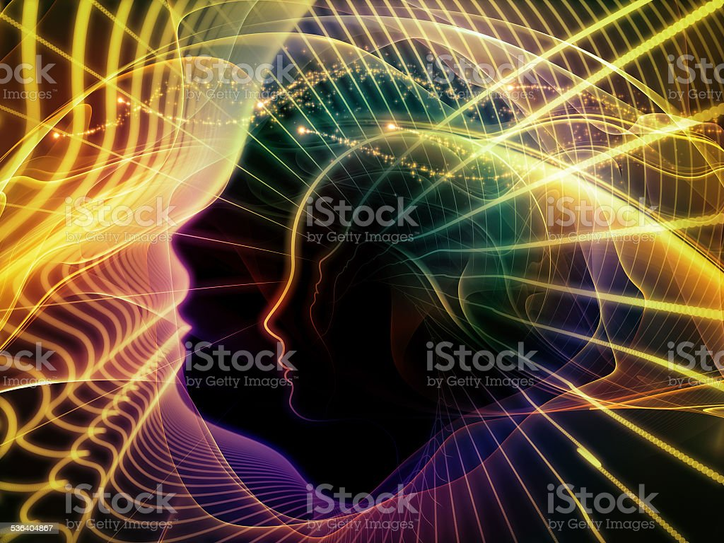 Propagation of Inner Lines stock photo
