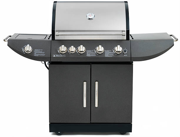 Propane Barbeque Grill on white  burwellphotography stock pictures, royalty-free photos & images