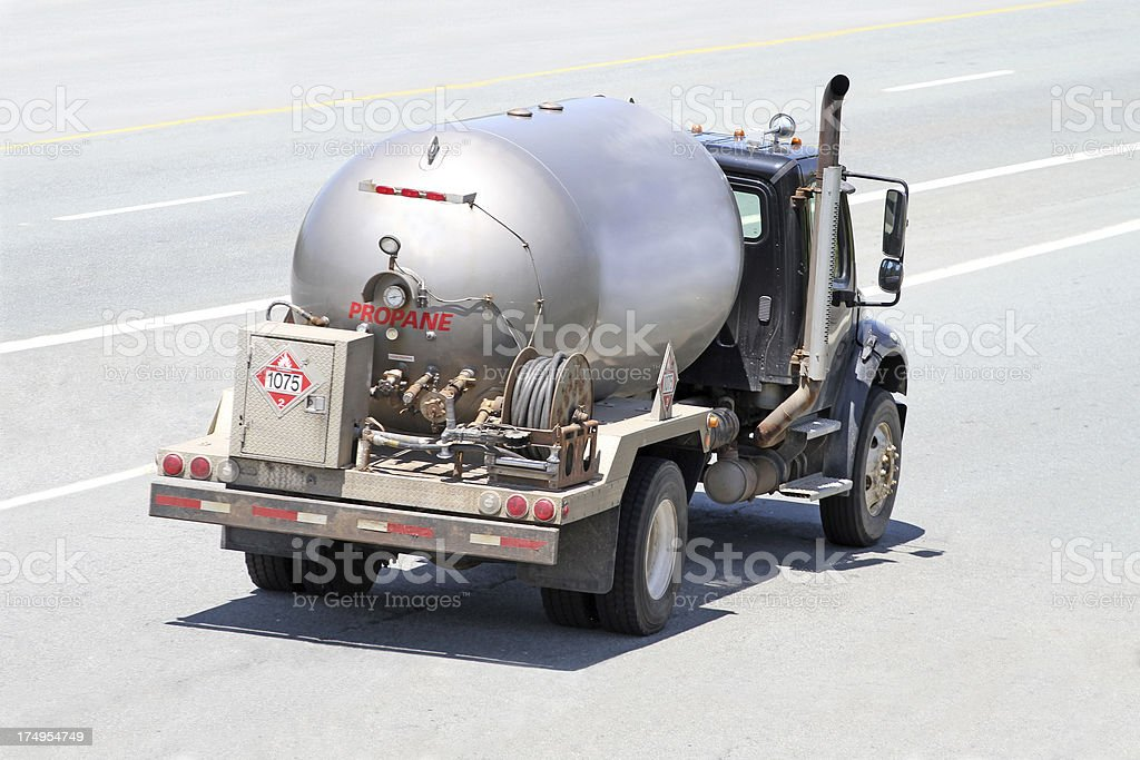 Propane Delivery Truck stock photo