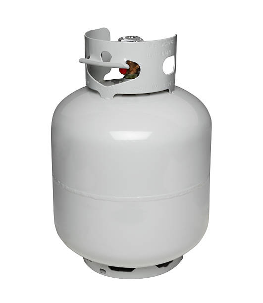 Propane gas cylinder, isolated on white stock photo