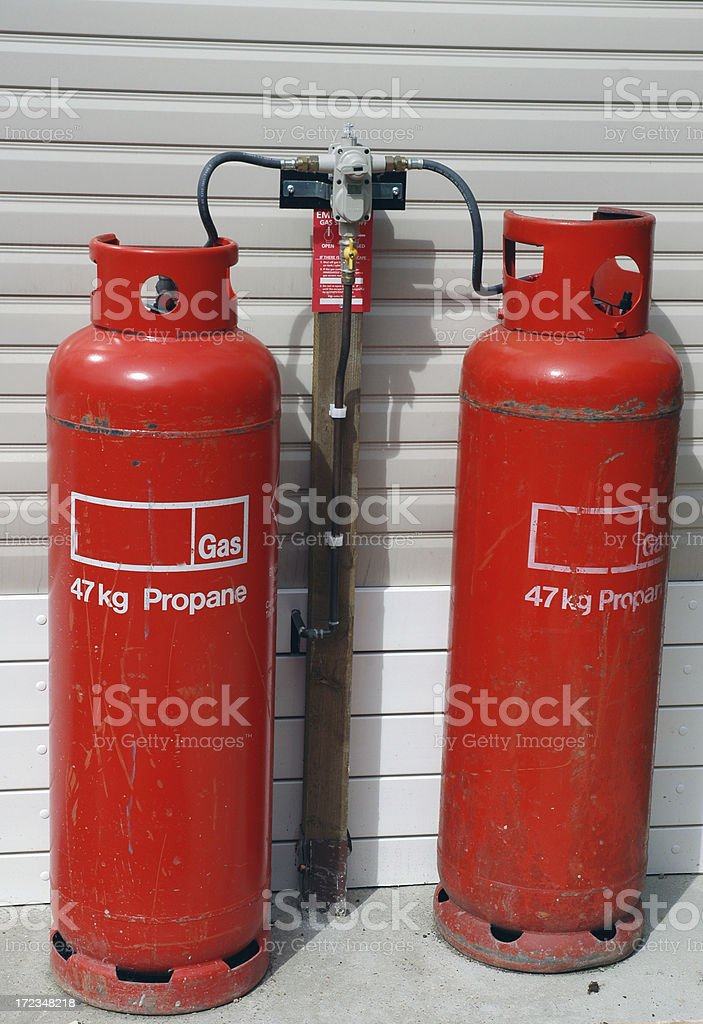 Propane gas cylinders royalty-free stock photo