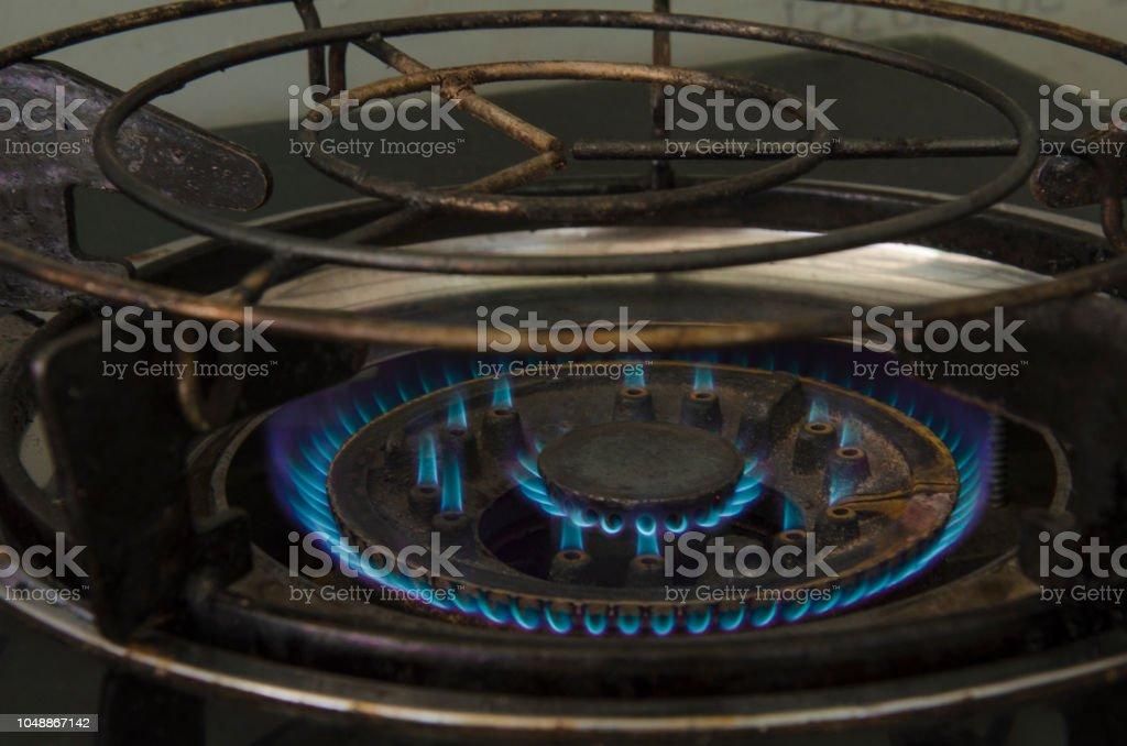 propane gas stove stock photo