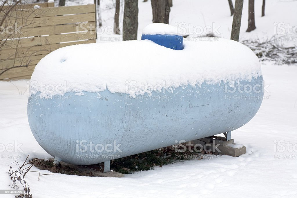Propane Tank for home heating royalty-free stock photo