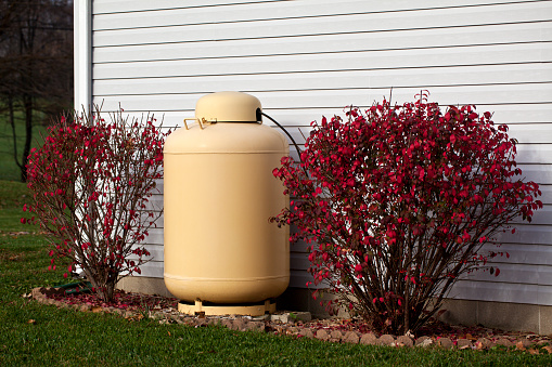 Propane tank for household use.