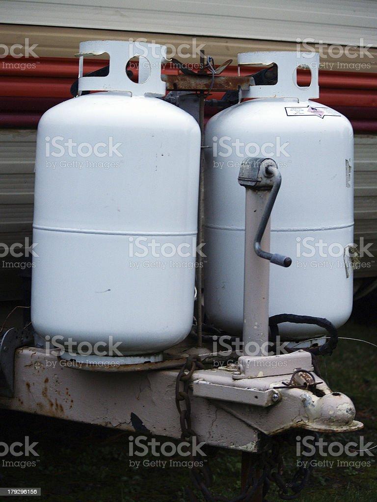 Propane tanks royalty-free stock photo
