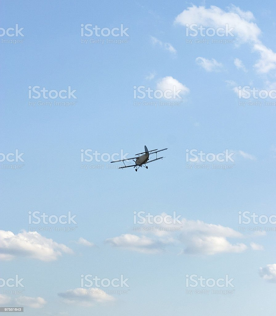 Propeller airplane royalty-free stock photo