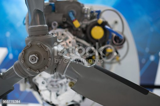 536680742 istock photo Propeller engine of vintage airplane 955775284