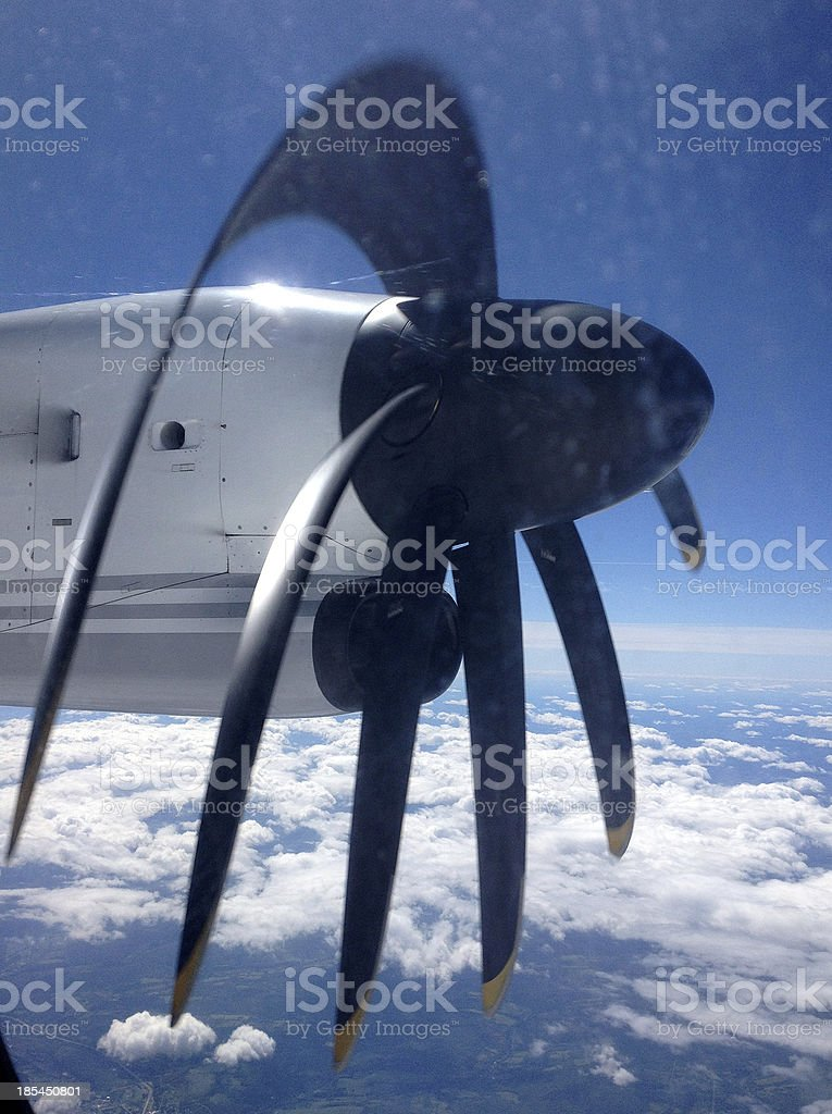 Propeller High In The Sky royalty-free stock photo
