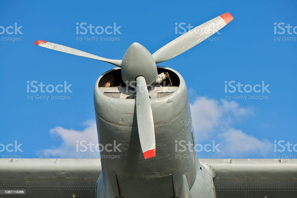 Propeller Of An Old Airplain stock photo