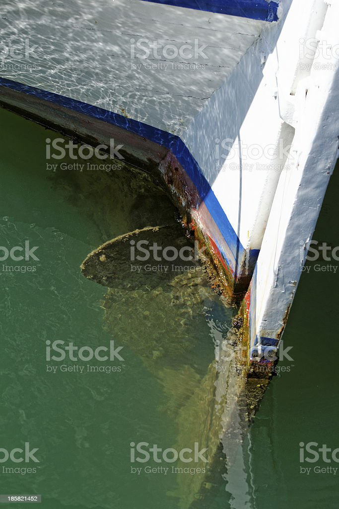 propeller of an old ship royalty-free stock photo