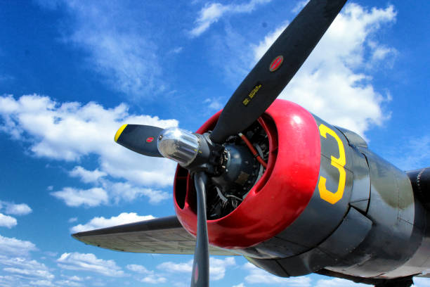 Propeller of Consolidated B-24 Liberator Aircraft stock photo
