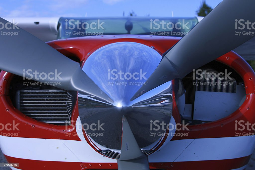 Propeller on a small plane royalty-free stock photo