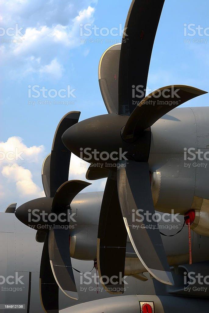 C-130 Propellers stock photo
