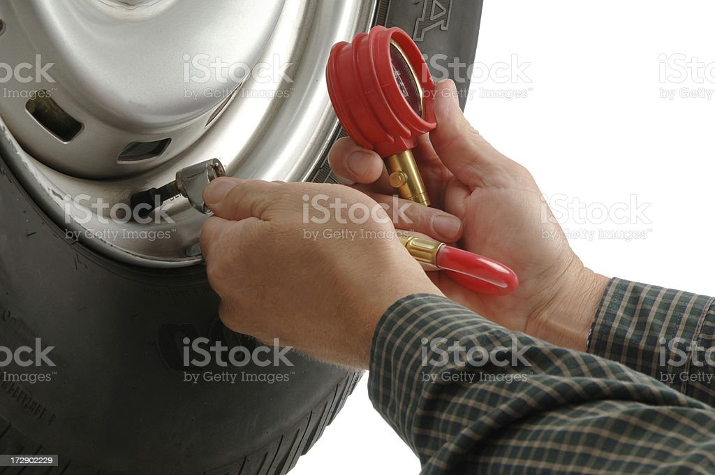 Proper Tire Pressure royalty-free stock photo
