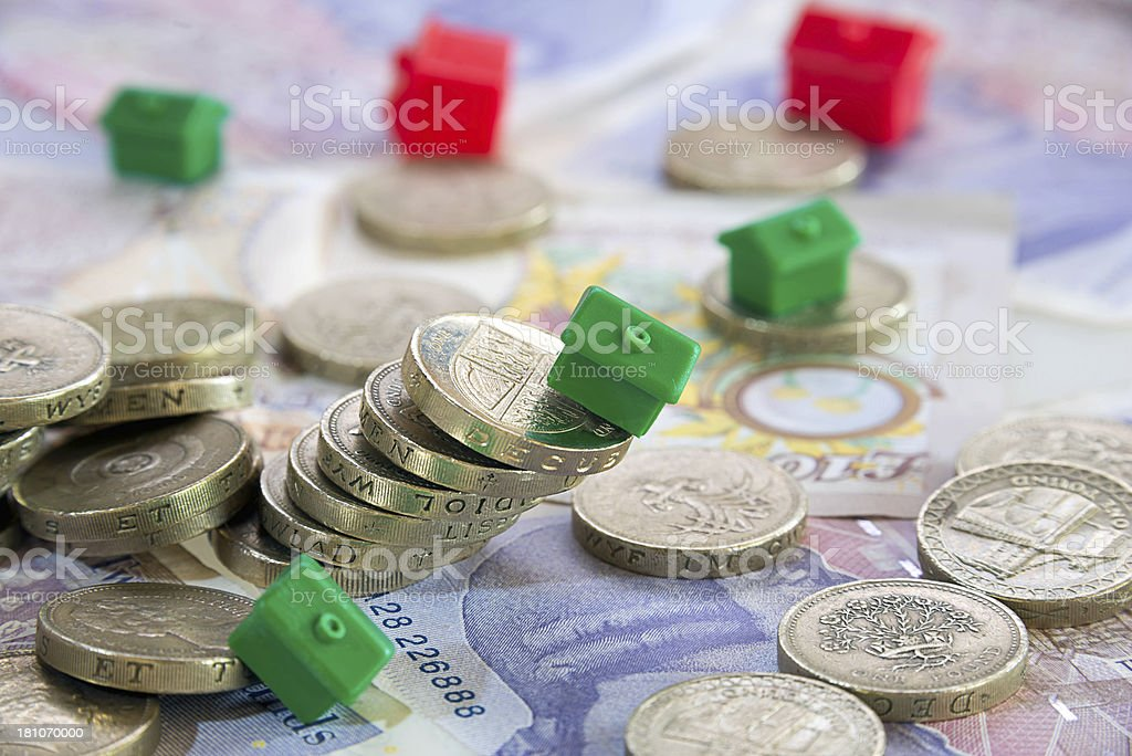 Property and House Prices Falling or crashing stock photo