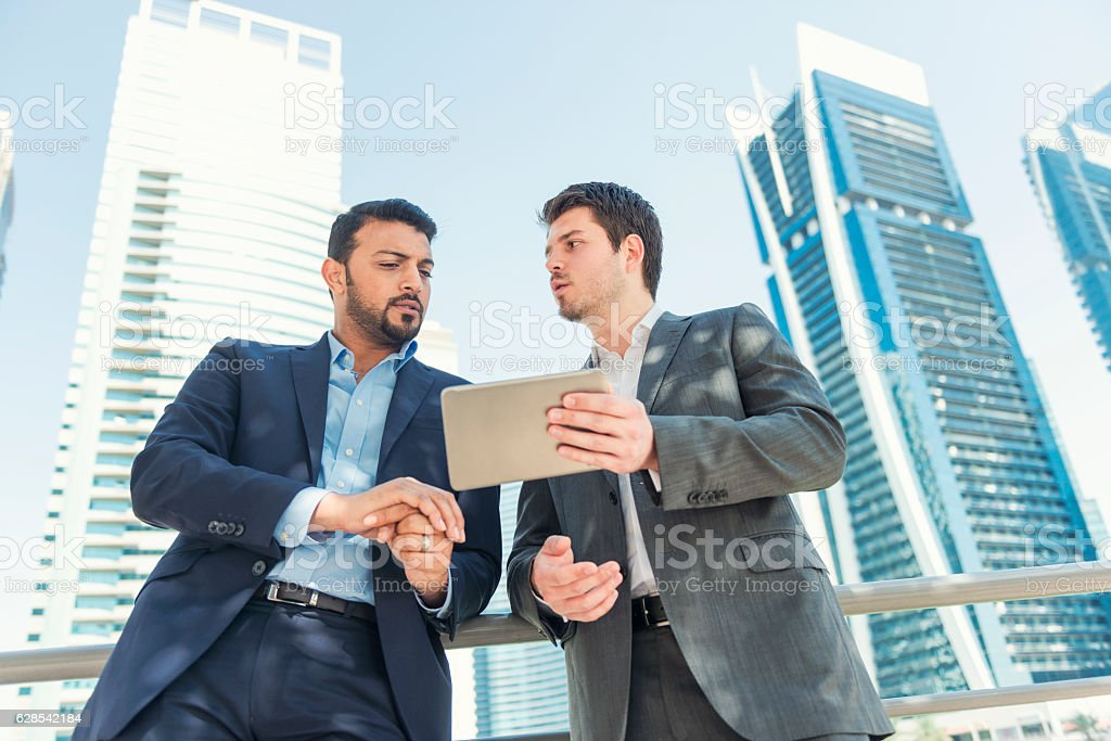 Property business in Middle East stock photo