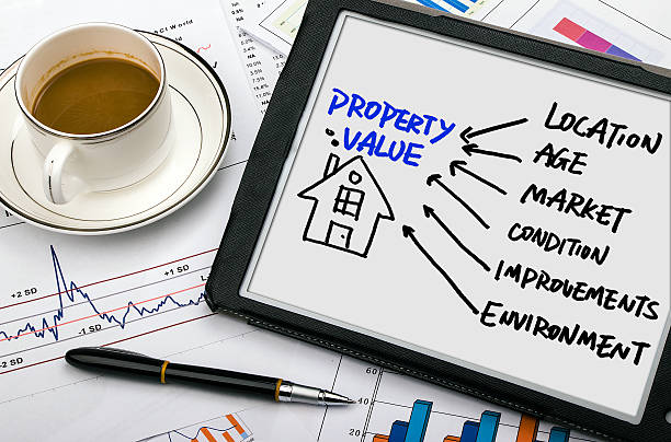 property concept hand drawing on tablet pc property concept diagram hand drawing on tablet pc market research stock pictures, royalty-free photos & images