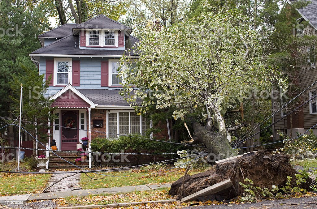 Property Damage stock photo