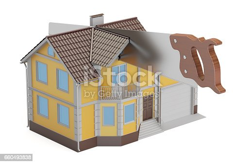 istock Property division concept, 3D rendering isolated on white background 660493838