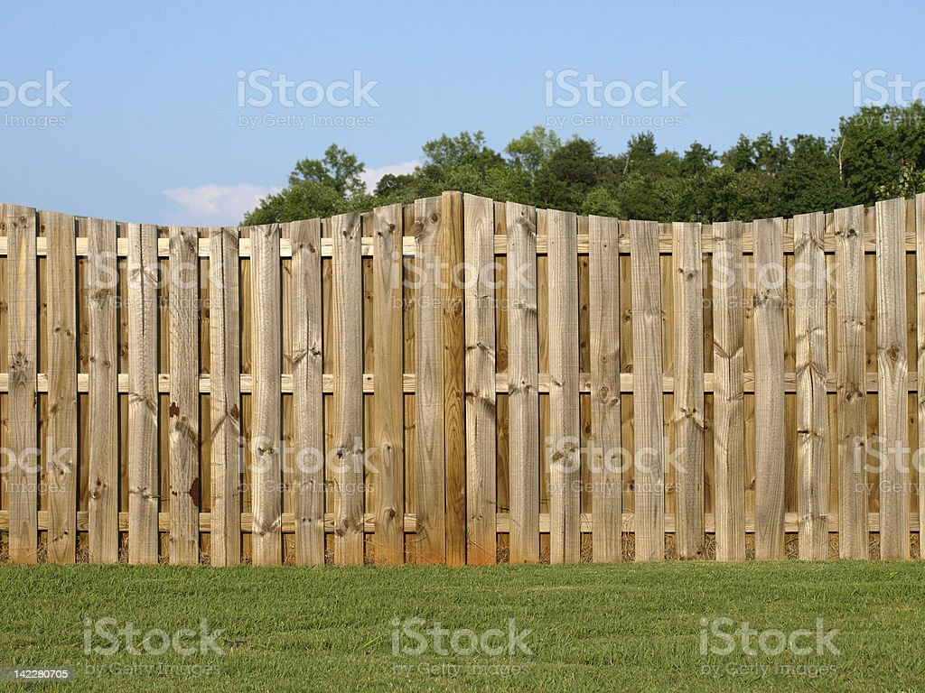 Property Fence stock photo