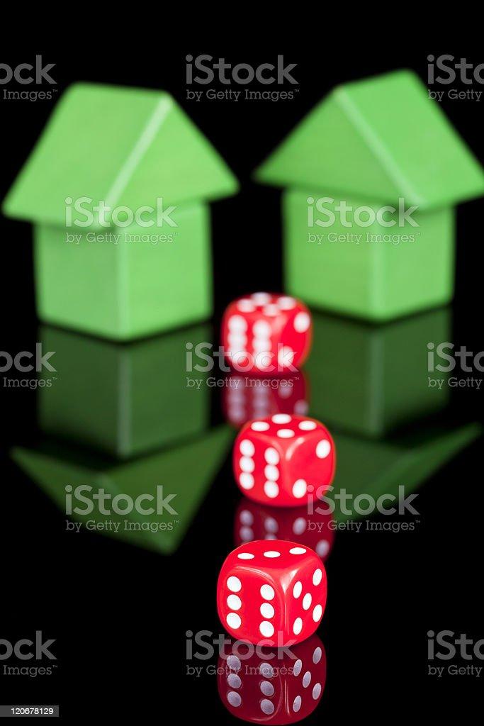 Property Gamble stock photo