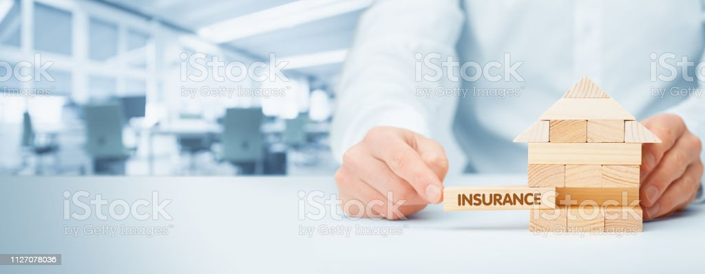 Property insurance concept stock photo