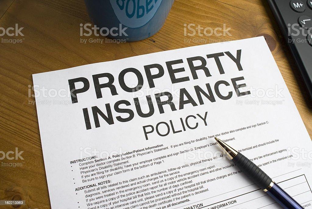 Property Insurance Document royalty-free stock photo