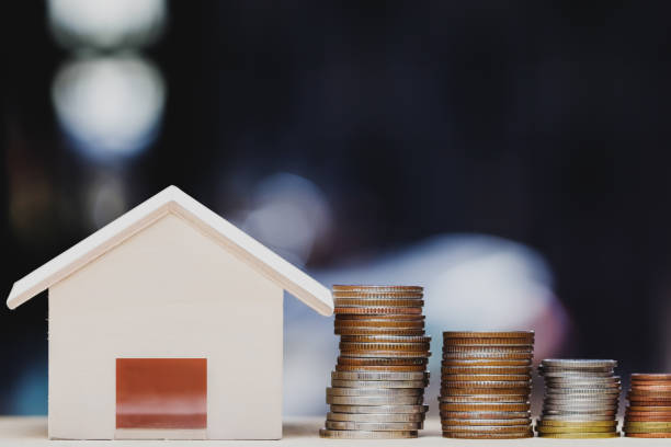 Property investment, home loan, house mortgage, resident financial concept. stock photo