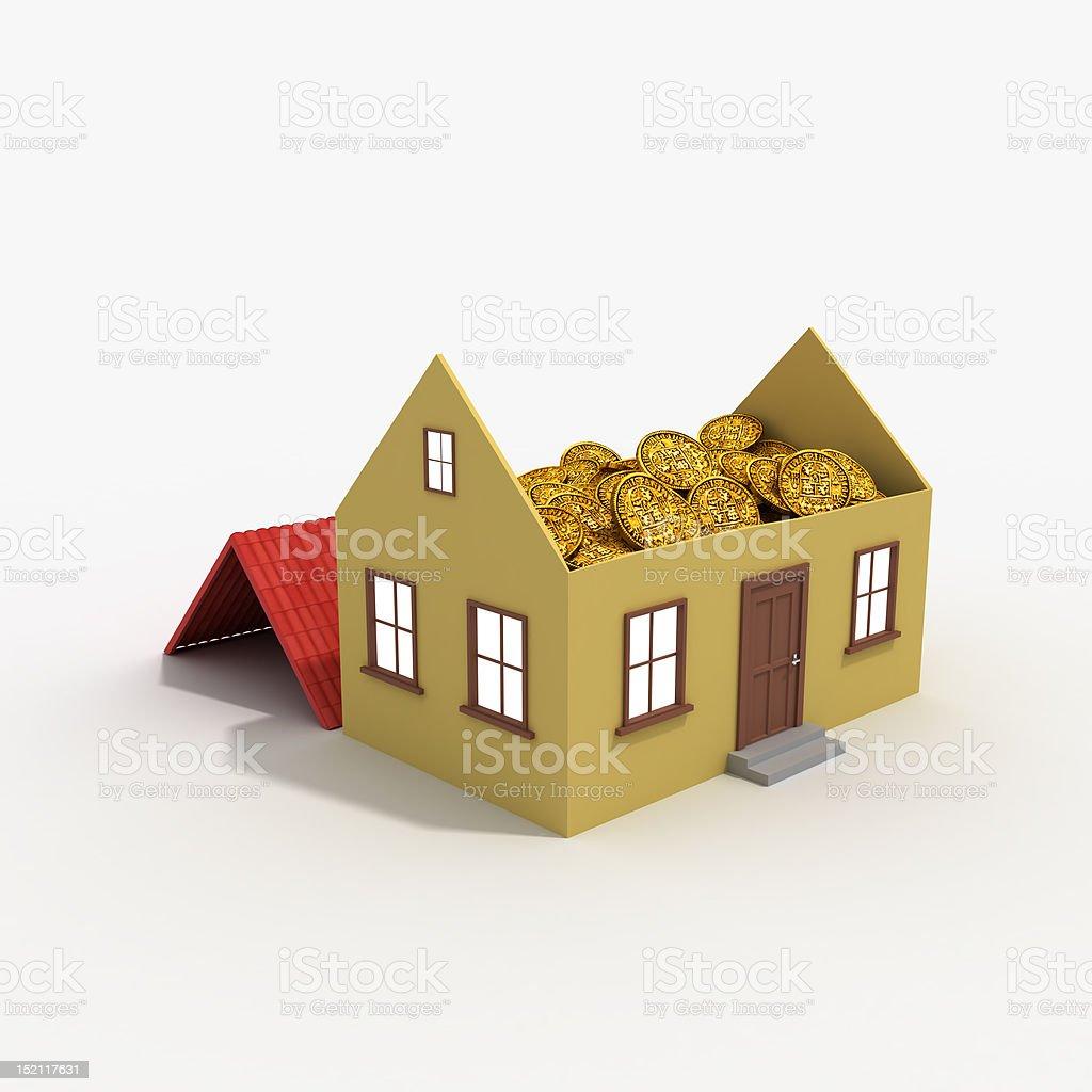 Property Market = Money stock photo