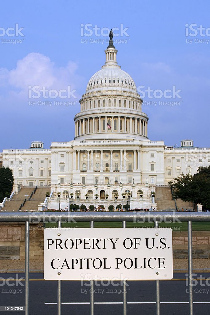 Property of US Capitol Police royalty-free stock photo