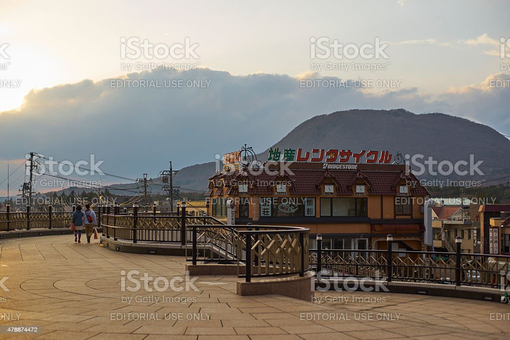 property shop lot at karuizawa,japan stock photo