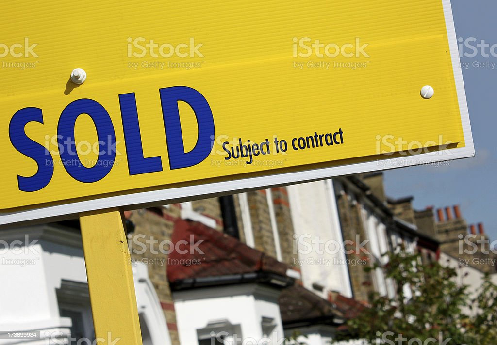 Property sold subject to contract royalty-free stock photo