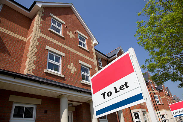 Property to Let New Build Houses to let in an English Street house rental stock pictures, royalty-free photos & images