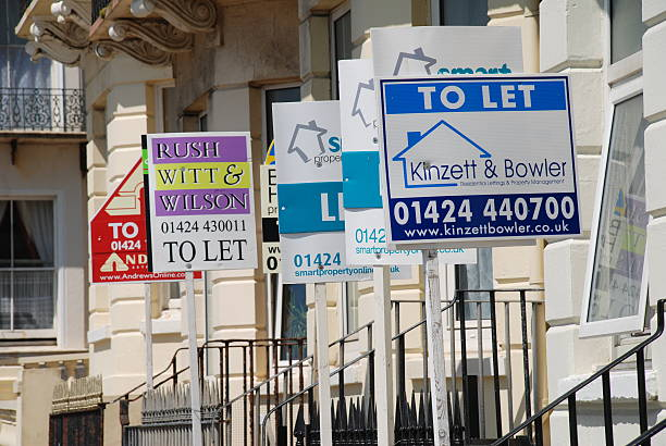 Property to let signs, England stock photo