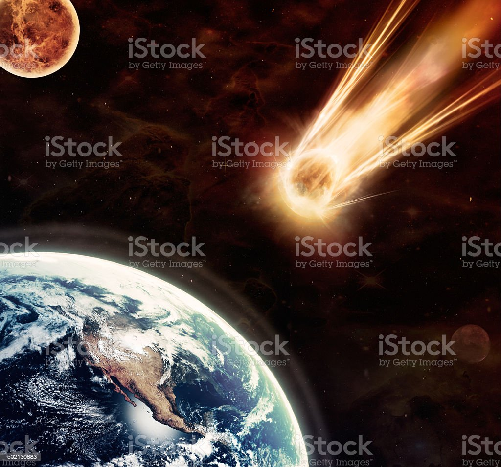 Prophecy of the blood moon stock photo