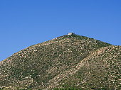 Prophet Εlias Chapel on top of a hill in Komi area, Chios island, Greece.