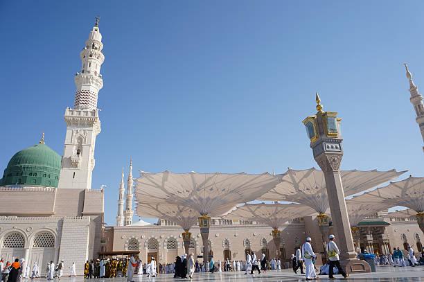 mosquée du prophète mahomet - omra photos et images de collection