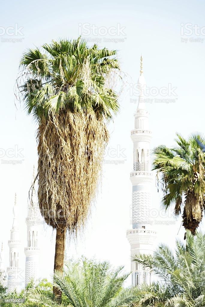 Prophet Muhammed holy mosque in Medina, KSA stock photo