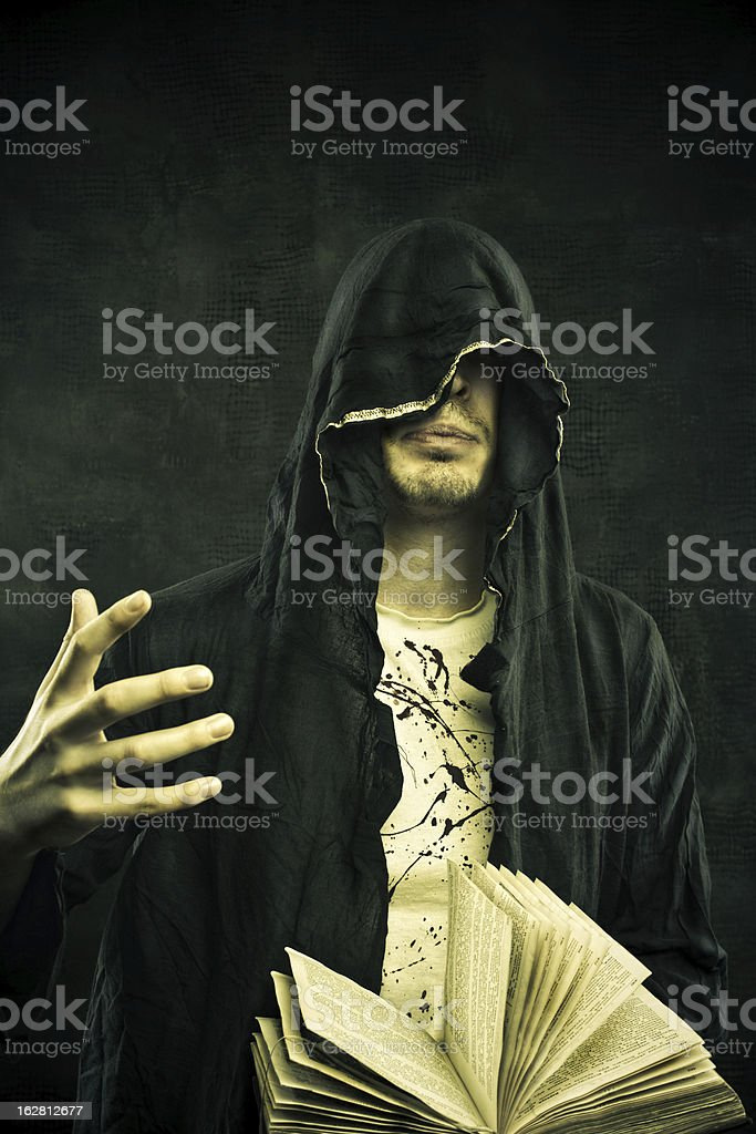 Prophet of post apocalyptic world stock photo
