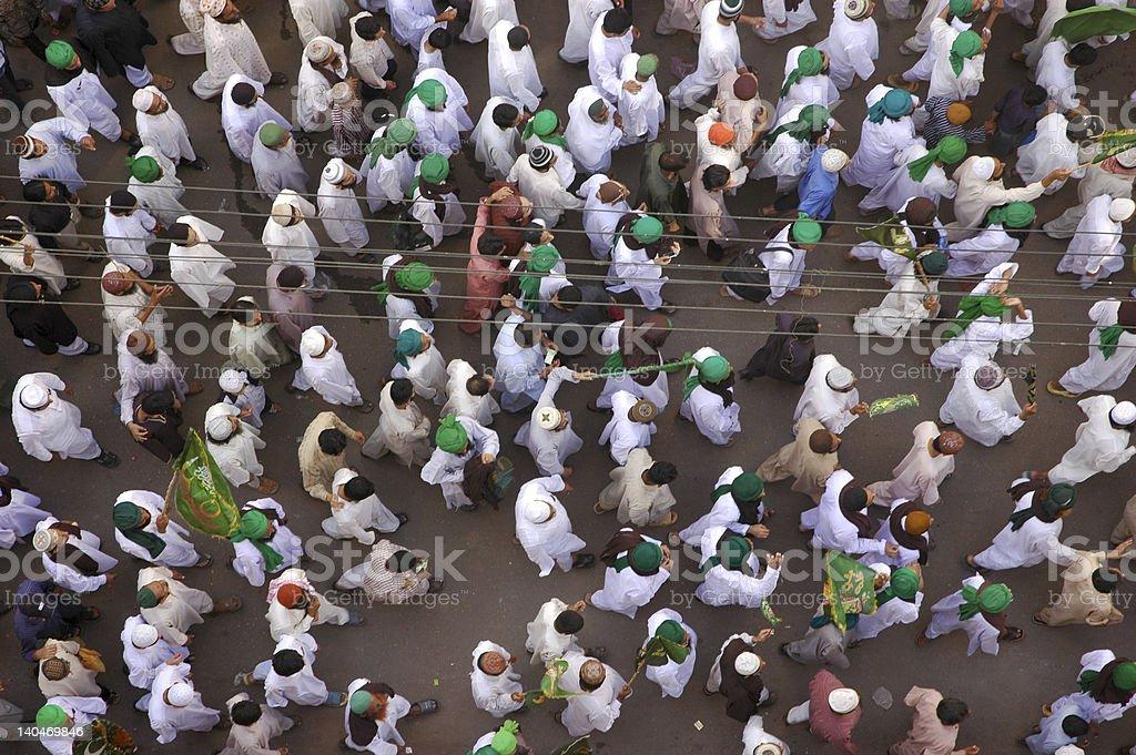 Prophet's birthday procession royalty-free stock photo