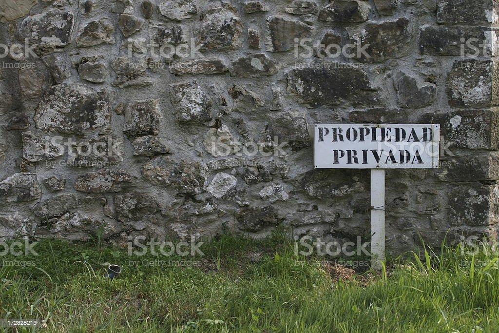 Propiedad privada royalty-free stock photo