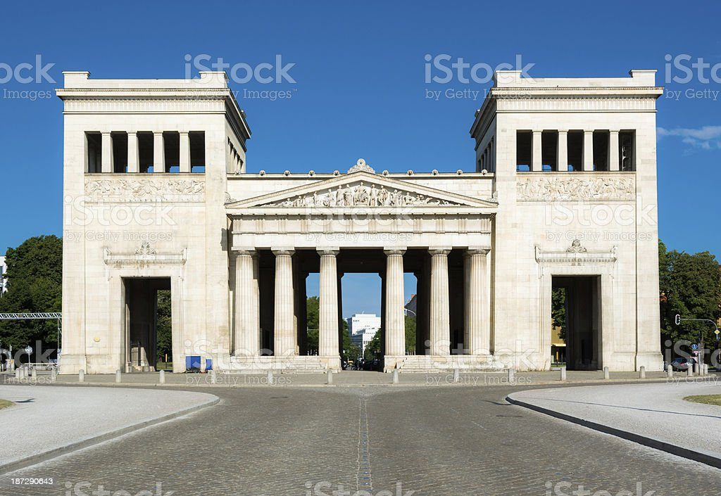 Propyläen at Königsplatz, Munich, Germany royalty-free stock photo
