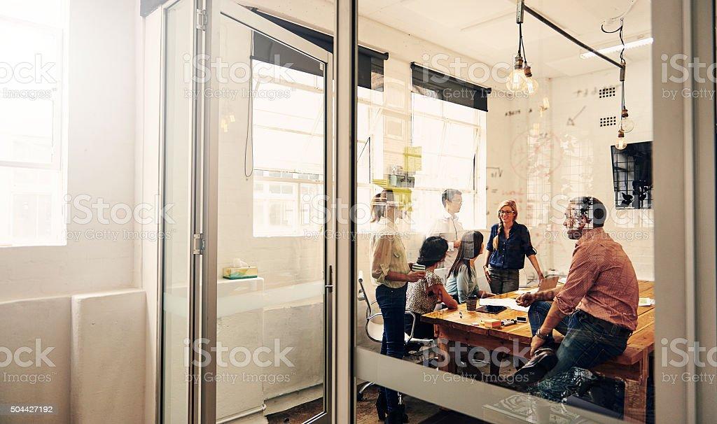 Profis bei der Arbeit - Lizenzfrei Arbeiten Stock-Foto