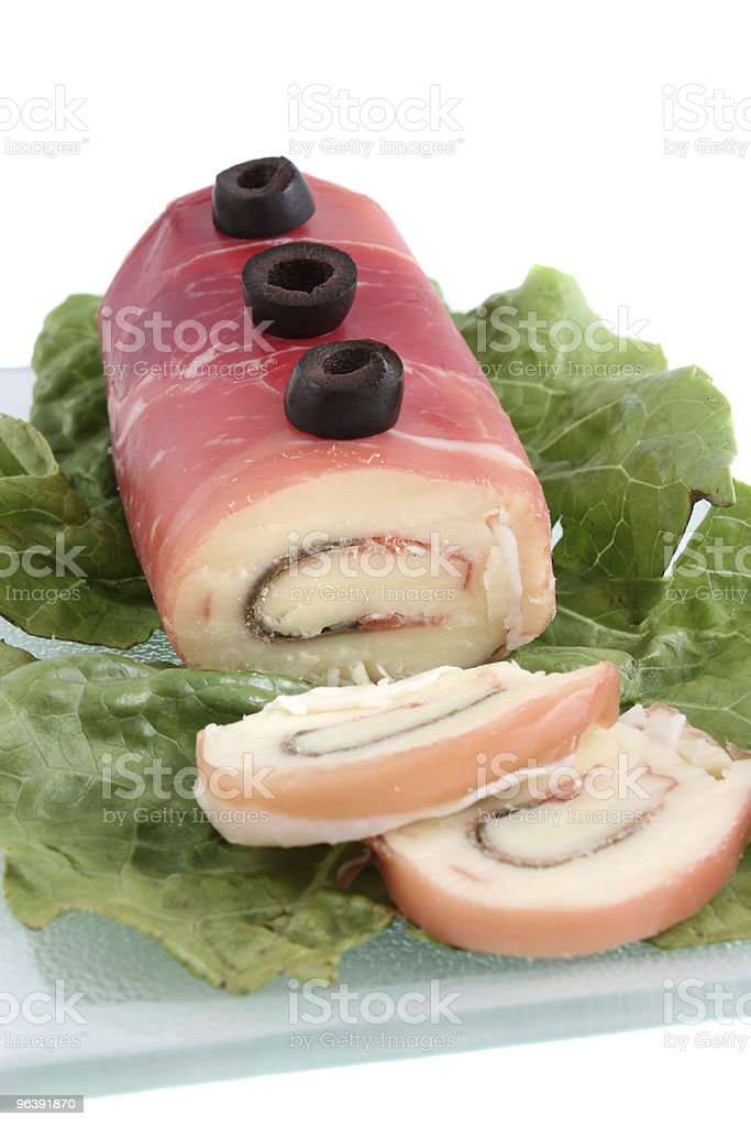 Prosciutto and Mozzerella roll - Royalty-free Appetizer Stock Photo
