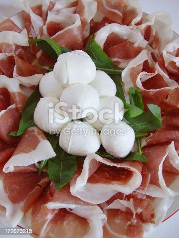 istock Prosciutto Ham and Buffal Mozzarella Cheese 172673218