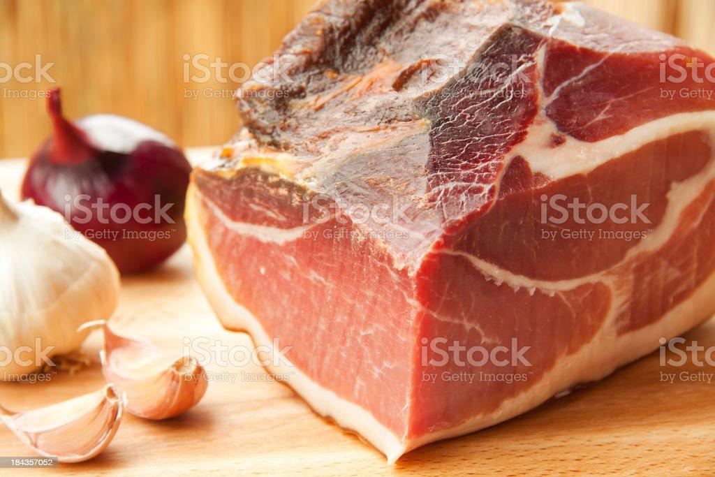 prosciutto royalty-free stock photo